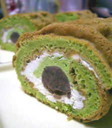 ワッフル・ケーキの店R.Lくるくるケーキ抹茶あずき