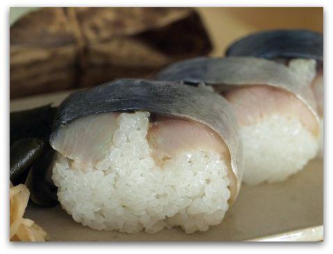 いずう@京都 鯖姿寿司は、ボリュームも味も大満足でした。