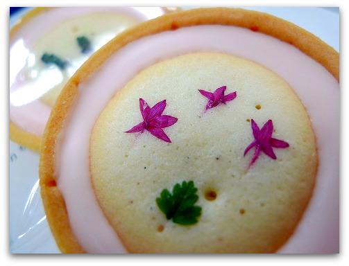 本物のお花がトッピングされたかわいいクッキー♪洋菓子アリスのお花のクッキー「はなこ」