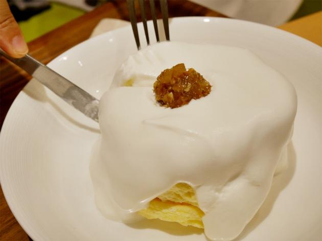 【銀座のジンジャー】銀座で食べるパンケーキ 「銀座のジンジャー」が作るリコッタチーズのパンケーキ