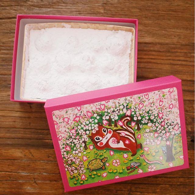 【東京駅のお土産 西光亭】くるみのクッキー春らしいお花見のイラストがかわいい!