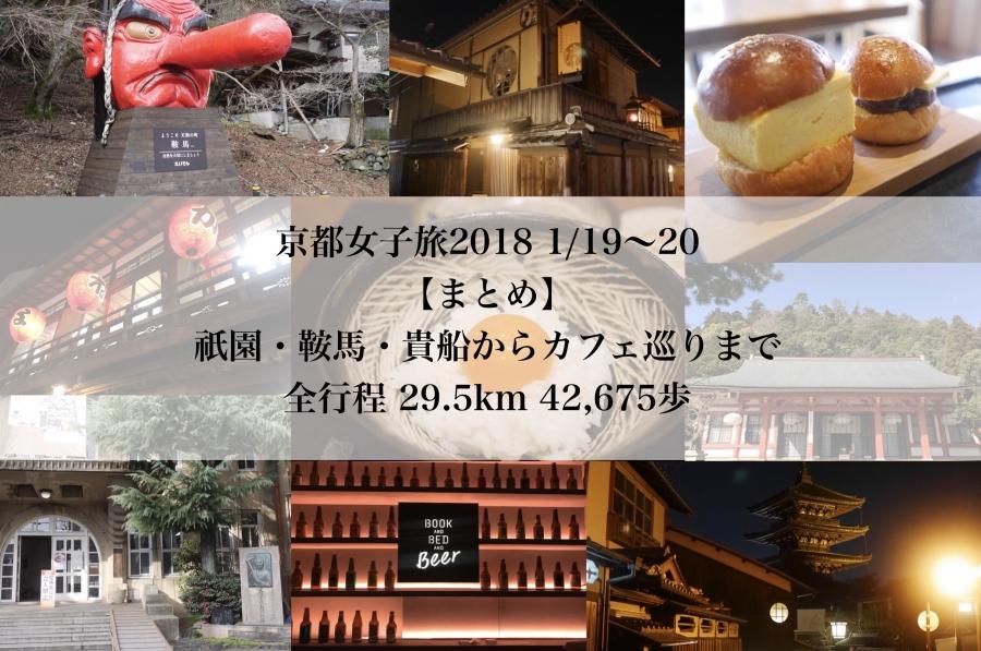 【まとめ】京都女子旅2018 1/19~20「歩いて食べて。究極の朝ごはん~鞍馬・貴船~京都満喫」